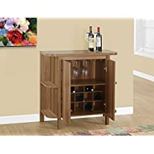 """Candace & Basil HOME BAR - 36""""H / WALNUT WITH BOTTLE AND GLASS STORAGE"""