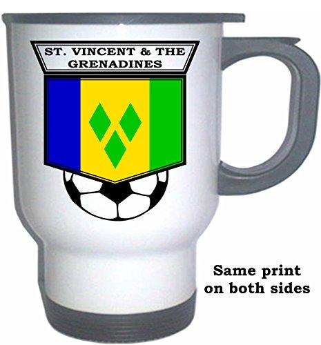 Grenadines Mug (Saint Vincent And The Grenadines Soccer White Stainless Steel Mug)