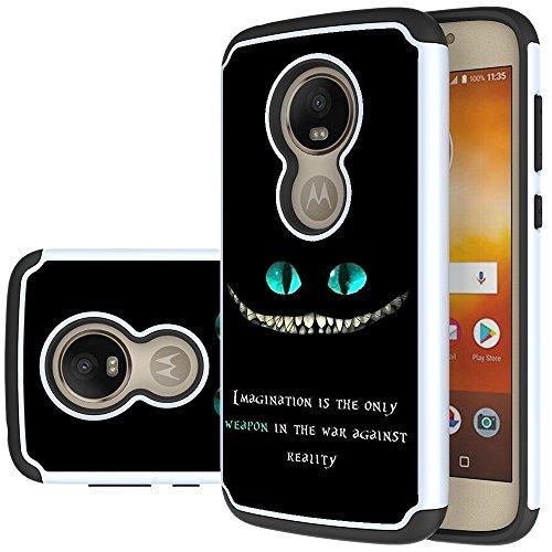 Moto E5 Play Case, Moto E5 Cruise Case, Yiakeng Shockproof Protection Tough Rugged Dual Layer Armor Case Cover for Motorola Moto E5 Play (Black)