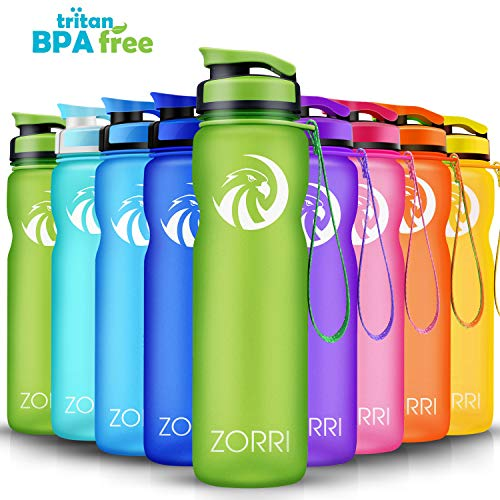 Sports Water Bottle 1L/ 1.2 Litre/ 600ml/ 800ml, Leak Proof & BPA Free Tritan Eco Friendly Lightweight Portable Gym Bottles With Filter for Kids, Camping, Cycling, Hiking, Yoga, Running, Flip Top Lid