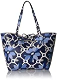 GUESS Bobbi Floral Inside Out Tote, Blue Floral/Stone