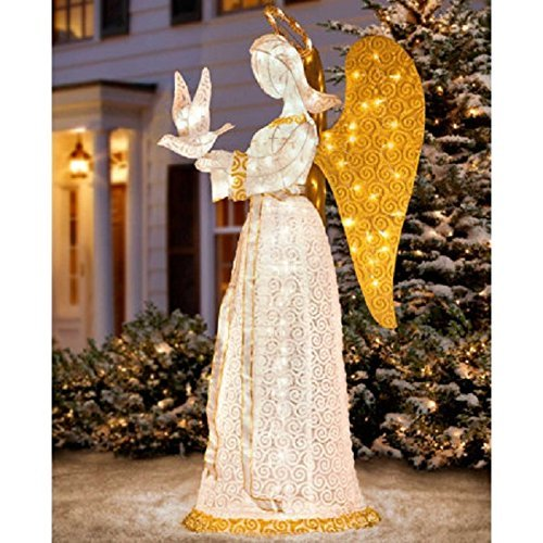 60 christmas angel with dove by improvments - Christmas Angel Decorations