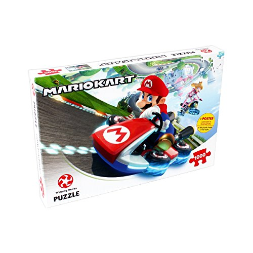 Winning Moves Games Mario Kart Funracer 1000 Piece Jigsaw Puzzle -