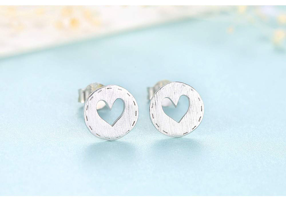 THTHT Sterling Silver Earrings Womens Simple Love Temperament Cute Exquisite Creative Fashion Vintage Jewelry