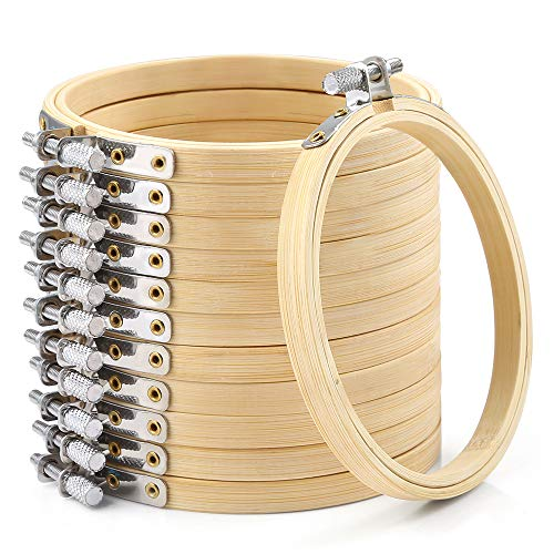 10//20 PCS 4 Inch Bamboo Embroidery Hoops Round Wooden Circle Cross Stitch DIY
