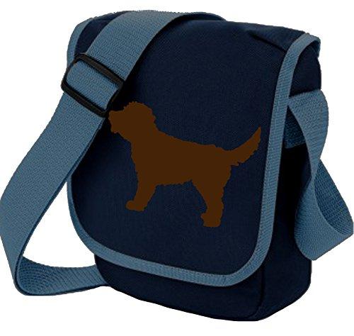 Bag Pixie Bolso al hombro de poliéster para mujer S Brown Dog Navy Bag