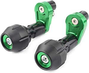 GZYF Motorcycle Fairing Crash Protection Frame Sliders Compatible with Kawasaki Ninja 400 2018-2019, Green