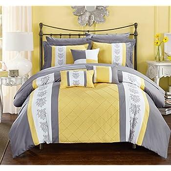 Amazon Com 7 Piece Modern Oversize Yellow Black White