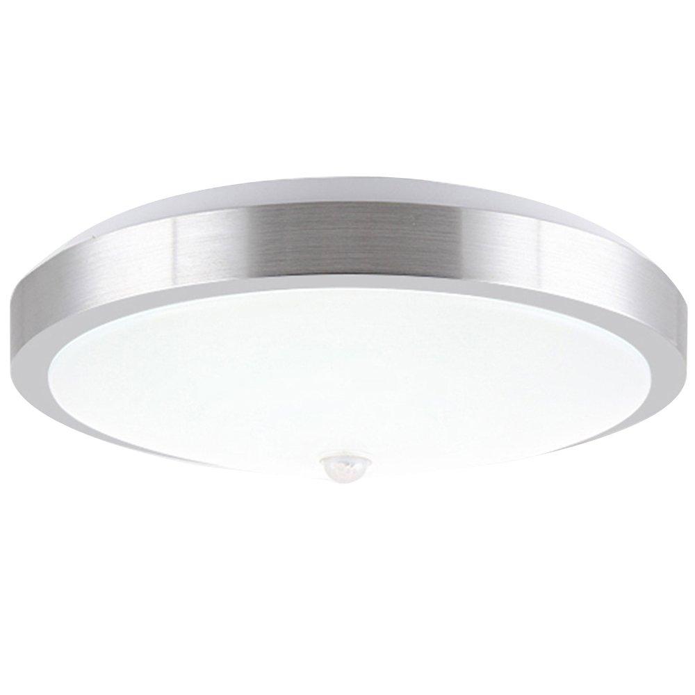ZHMA Plafoniera da incasso 18W, Plafoniera LED, Plafoniera a LED moderna, Bianco freddo, 1600LM, Materiale PIR, Luminoso, Consumo ridotto, Impermeabile ZHMA Lighting