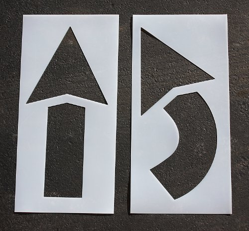 Pavement Stencil, 42 in, Arrow Kit, 1/16