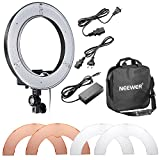 "Neewer RL-12 LED Ring Light 14'' outer/12"" on Center 5500K Dimmable Light Filter Power Adapter Makeup, Camera/Phone Video Shooting"