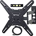 VideoSecu TV Wall Mount Monitor Bracket with Full Motion Articulating Tilt Arm 15″ Extension for Most 27″ 30″ 32″ 35″ 37″ 39″ 42″ LCD LED TVs, Some Models up to 47″ with VESA 200×200 ML14B WS2