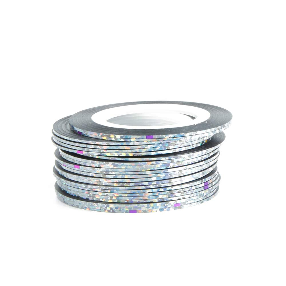 30Pcs 30 Multicolor Mixed Colors Rolls Striping Tape Line Nail Art ion Sticker DIY Nail Tips Silver by Museakull