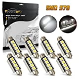 98 silverado dome light cover - Partsam 8pcs White 42MM 4SMD Error Free Festoon Dome Light Lamps Car Interior LED 570 571 577 578