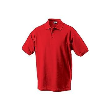 NJ Polo Uni niño Manga Corta, Color Rojo Vivo, tamaño 13/14 años ...