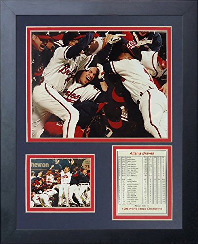Legends Never Die 1995 Atlanta Braves Champions Framed Photo Collage, 11 by 14-Inch Atlanta Braves Memorabilia