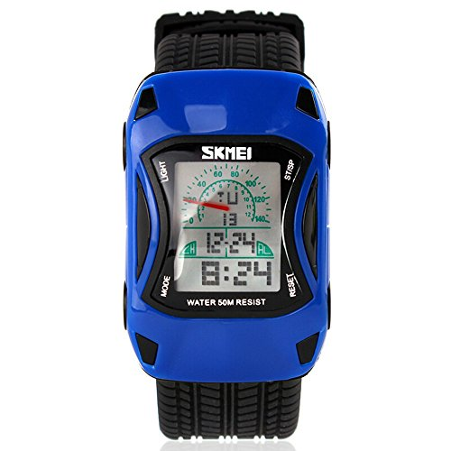 ALPS Kids LED Digital Kids Car Sports Waterproof Watches (Blue) by ALPS