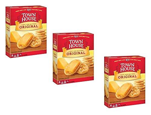 Keebler Town House Crackers, Original, 13.8 Oz (Pack of 3) by Keebler