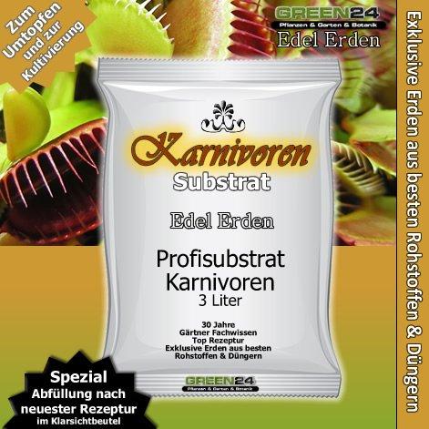 Karnivoren-Erde Substrat für fleischfressende Pflanzen - 3 Ltr. - PROFI LINIE Substrat Carnivoren