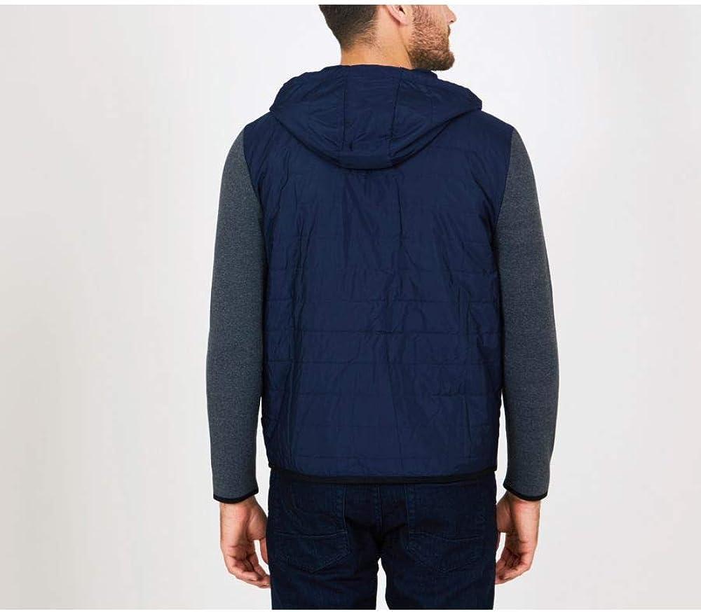 Nautica Mens Long Sleeve Mix Media Hoodie Sweater