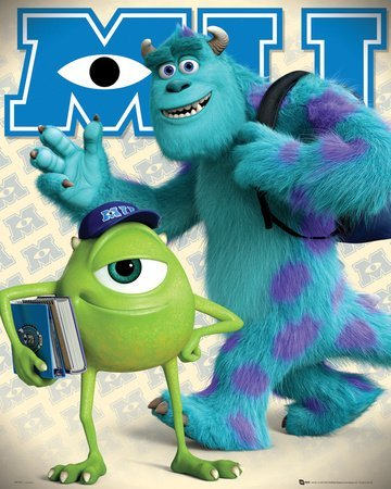 Monsters University Mike and Sully Mini Poster 40x50cm by MoviePostersDirect ()