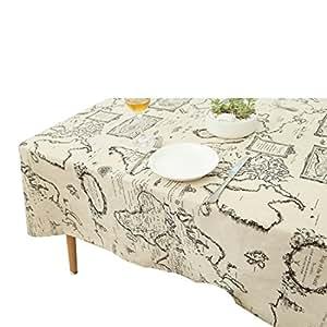 Manteles, YUUVE Mantel rectangular vintage de lino, Manteles mesa para Hosteleria, Jardin, restaurante Decoracion para hogar 90x90cm/35x35inch