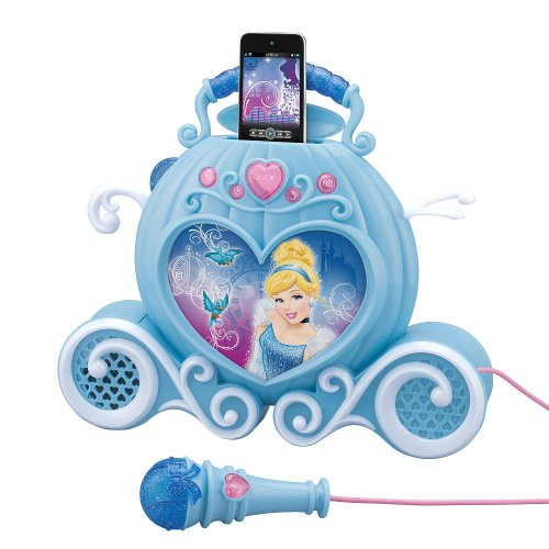 Enchanting Sing-Along MP3 Boombox - Cinderella (Mp3 PLAYER IS NOT INCLUDED) - BOOMBOX WILL PLAY YOUR OWN MP3 PLAYER THAT YOU ATTACH by eKids (Image #2)