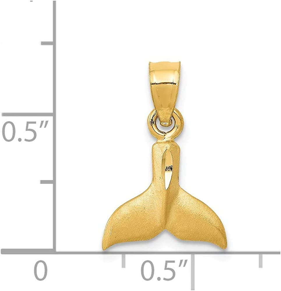 Made in USA Charm Details about  /14k Yellow Gold WHALE TAILS Pendant