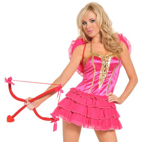 Seven 'til Midnight Valentines Day Sexy Cupid Outfit Womens Halloween Costume Medium Pink]()