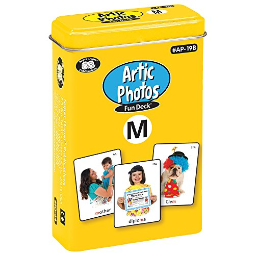 Articulation Photos M Fun Deck Flash Cards - Revised with NEW Color Photos - Super Duper Educational Learning Toy for Kids … (New Deck Flash Cards)