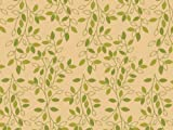 Printed Tissue Paper for Gift Wrapping with Design (Nature Inspired Green & Tan Leafy Vine) - Decorative Tissue Paper, 24 Large Sheets (20x30)