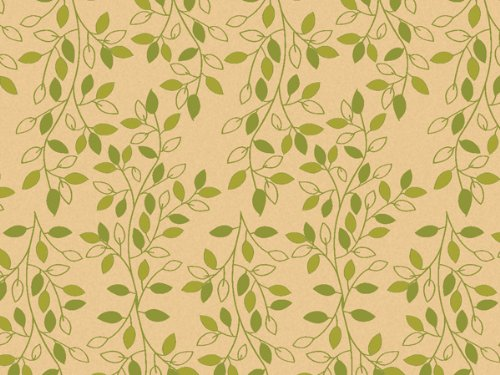 Printed Tissue Paper for Gift Wrapping with Design (Nature Inspired Green & Tan Leafy Vine) - Decorative Tissue Paper, 24 Large Sheets (20x30) by Rustic Pearl Collection