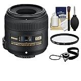 Nikon 40mm f/2.8 G DX AF-S Micro-Nikkor Lens + 3 UV Filter for D3200, D3300, D5300, D5500, D7100, D7200 Cameras