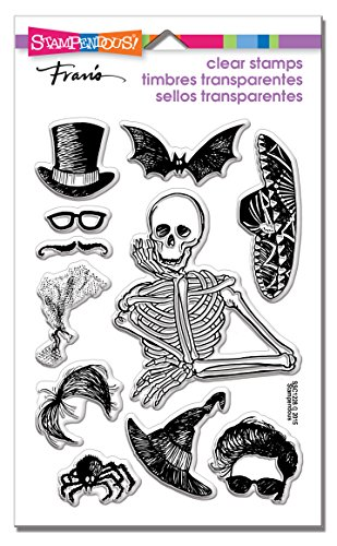 Halloween Clear Stamps - STAMPENDOUS SSC1228 Clear Stamps, Skeleton Style