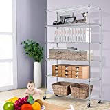 "Storage Metal Shelf 6 Tier 82""x48""x18"" Wire"