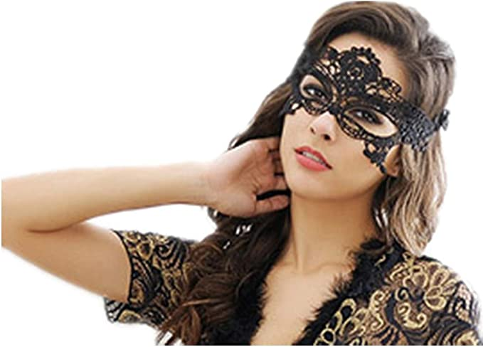 Venetian Mask Black Women Venetian Lace Mask for Halloween Carnival Party Connie518 Masquerade Mask