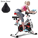HARISON Pro Indoor Cycling Bike Belt Drive with iPad Holder, Stationary Exercise Bike