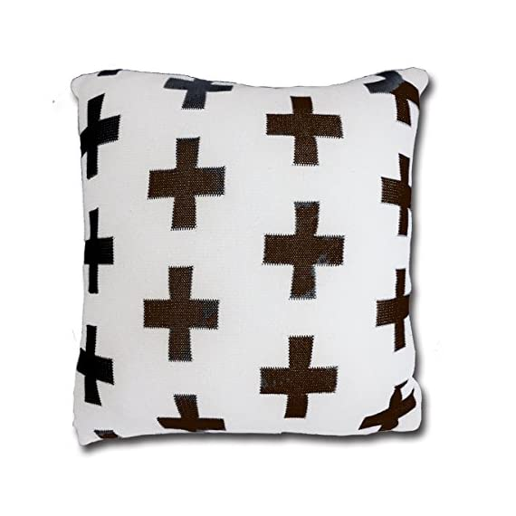 CottonTex Cotton Knitted Decorative Cushion Cover(17.5x17.5) + Pillow(19.5x19.5) Zipper Design Cable Knitting Pattern Super Soft Square Warm Pillow Covers, Coffee, Cover + Pillow - Pure cotton, natural material, soft hand feeling and good warm touch Cover is 17.5 by 17.5 inch (45*45cm). Matching pillow shall be 20 by 20 inch (50*50cm) since knitted cotton cover is of high elastic Zipper closure - living-room-soft-furnishings, living-room, decorative-pillows - 51bnSmvvFGL. SS570  -