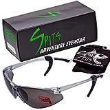 SPITS - Thresher Running -Cycling Bifocal Sunglasses - ANSI Z87.1+ Safety Compliant (2.50Smoke Bifocal)