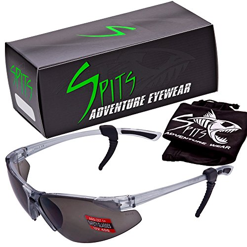 SPITS - Thresher Running -Cycling Bifocal Sunglasses - ANSI Z87.1+ Safety Compliant (2.25 Smoke Bifocal) by Spits Adventure Wear