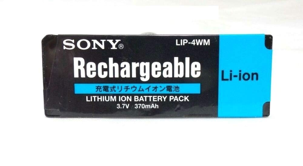 Battery Lithium Storage LIP-4WM 3.7V 370mAh Mini Disc for Sony MZ-DH10P MZ-NH1 MZ-RH1 175642531 by SERVICE_PARTS