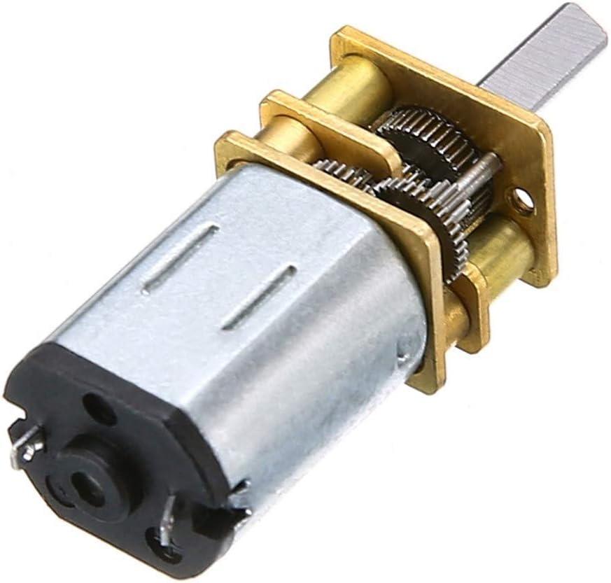 1pc 60 RPM DC 6V 0.3A DC Geared Motor Box Puissant /à Couple /élev/é Mini Moteurs /électriques Remplacement for Robot de 3 mm darbre Couleur : Argent NO LOGO WJN-Motor