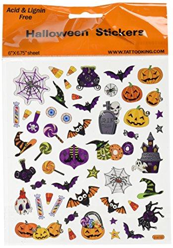 Tattoo King SK129MC-1320 Multicolored Sticker, Halloween Icons -