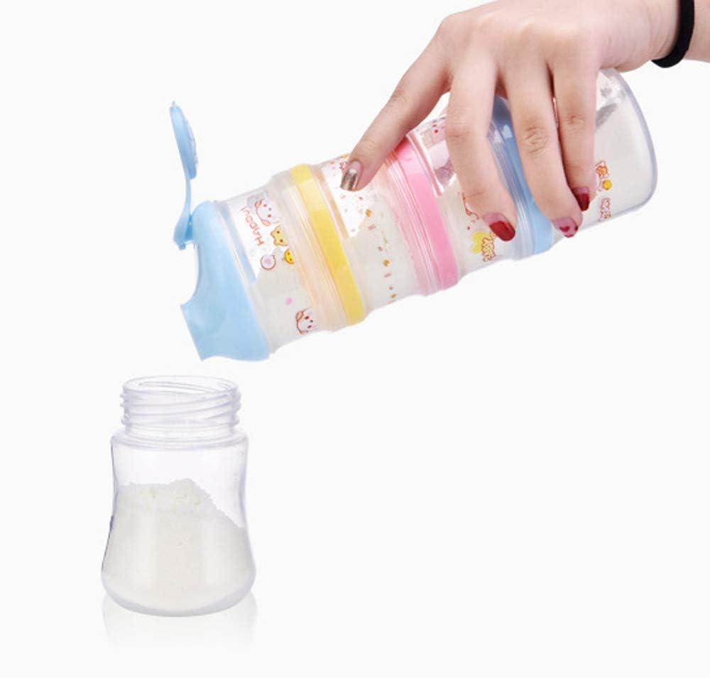 Comfysail 2Pcs Dispensador de Leche en Polvo para Lactantes Viajes,4 Compartimientos F/órmula Sin Derrames