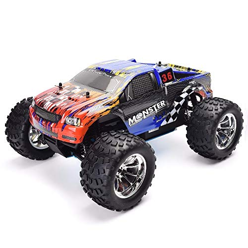 HSP RC Cars 1/10 Scale Monster Truck 4wd Off Road Nitro Gas Powered Hobby RC ()