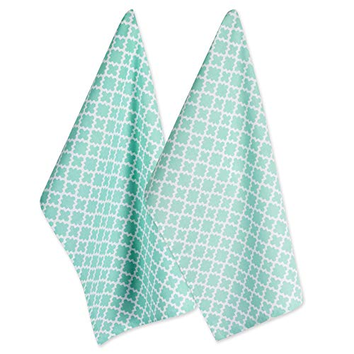 - DII Cotton Lattice Dish Towels with Hanging Loop, 18 X 28