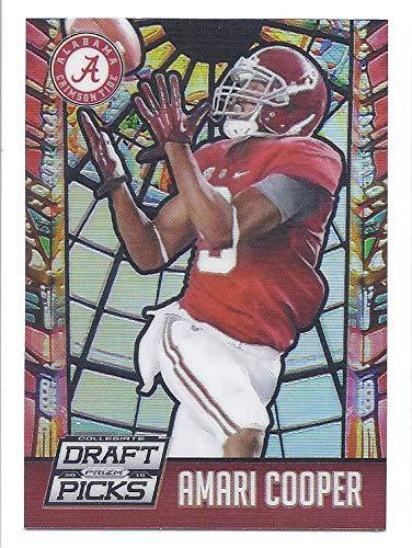 AMARI COOPER 2015 Panini Prizm Draft Picks Stained Glass #51 Rookie Card RC Alabama Crimson Tide Dallas Cowboys - Glass Dallas Stained Cowboys