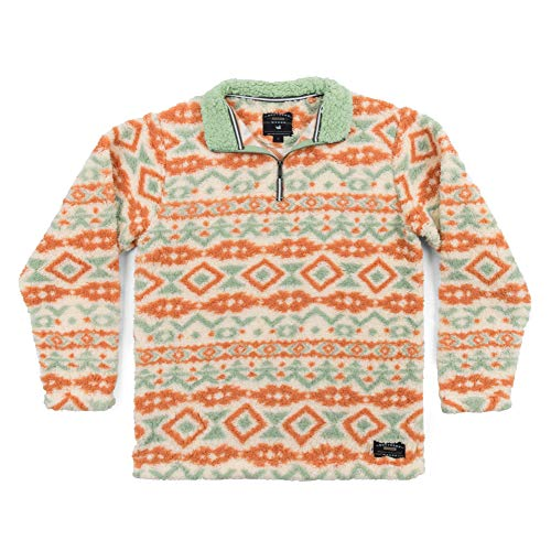 Appalachian Peak Printed Pullover Oatmeal & Sage X-Small