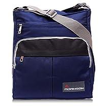 Adamson Unisex Blue Polyster Front Pocket Sling Bag