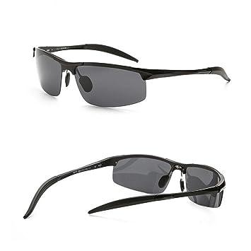 Lunettes de soleil en aluminium-magnésium hommes lunettes de soleil polarisées afflux conducteur sport équitation lunettes de soleil miroir voyage de plage à la , 1